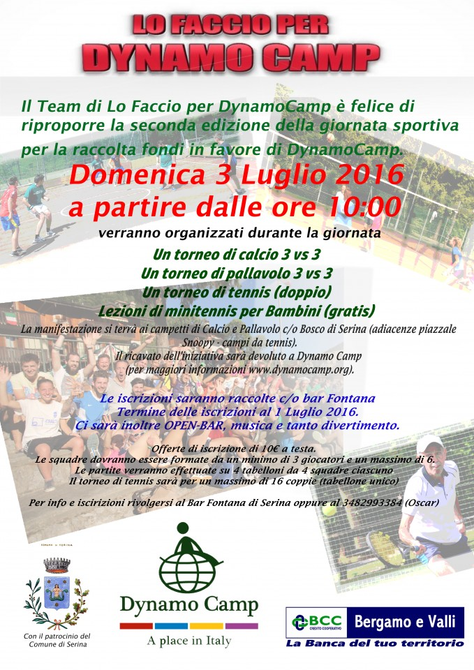 torneo calcio volley tennis